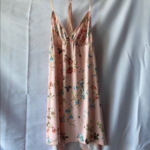 Adorable nighty pink w/ floral print. Size medium